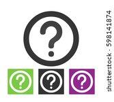 question mark sign icon  vector ... | Shutterstock .eps vector #598141874