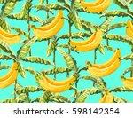 beautiful seamless vector... | Shutterstock .eps vector #598142354