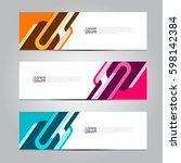 vector design banner background. | Shutterstock .eps vector #598142384