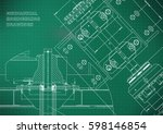 blueprints. mechanical... | Shutterstock .eps vector #598146854