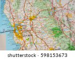 travel concept in the usa. map... | Shutterstock . vector #598153673
