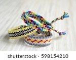 three handmade homemade natural ... | Shutterstock . vector #598154210