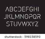 thin font. futuristic font.... | Shutterstock .eps vector #598158593
