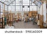 daylight art studio interior... | Shutterstock . vector #598160309