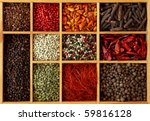 Assortment Of Peppercorns And...
