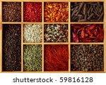 Assortment Of Peppercorns And...