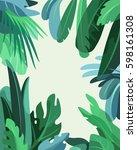 green rainforest. jungle... | Shutterstock .eps vector #598161308