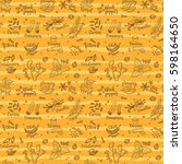 seamless vector pattern... | Shutterstock .eps vector #598164650