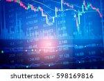 business graph background ... | Shutterstock . vector #598169816
