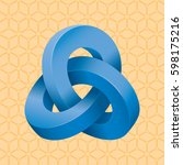 triple mobius loop impossible... | Shutterstock .eps vector #598175216