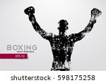 box silhouette. background and... | Shutterstock .eps vector #598175258