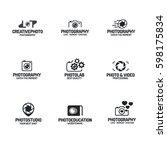 photography logo set black... | Shutterstock .eps vector #598175834