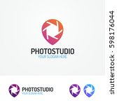 photostudio logo set with... | Shutterstock .eps vector #598176044