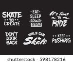 collection of quote...   Shutterstock .eps vector #598178216