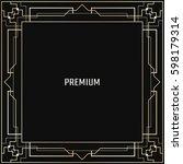 vector geometric frame in art...   Shutterstock .eps vector #598179314