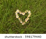Heart Arranged With Daisies....