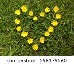 Heart  Yellow Flowers Arranged...