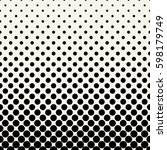 circles halftone seamless... | Shutterstock .eps vector #598179749