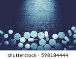 drug prescription for treatment ... | Shutterstock . vector #598184444