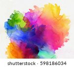 bright rainbow colored... | Shutterstock . vector #598186034