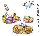 set of cartoon animals | Shutterstock . vector #598186130