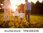 blurred background of family in ... | Shutterstock . vector #598188338