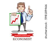 vector illustration of a worker ... | Shutterstock .eps vector #598189466