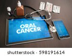 oral cancer  cancer type ... | Shutterstock . vector #598191614