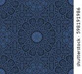 seamless islamic moroccan...   Shutterstock . vector #598191986