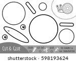 education paper game for...   Shutterstock .eps vector #598193624