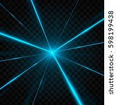 abstract blue laser beams.... | Shutterstock .eps vector #598199438
