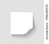 white sticky note with the... | Shutterstock .eps vector #598200953