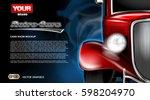digital vector red old retro... | Shutterstock .eps vector #598204970