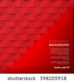 abstract vector background. red ...   Shutterstock .eps vector #598205918