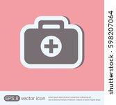 suitcase ambulance. vector...   Shutterstock .eps vector #598207064