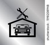 car in the garage icon ... | Shutterstock .eps vector #598208948