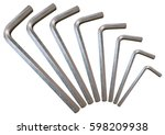 Hex Key Silver Set Arc Isolate...