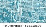 detailed vector map of colorado ... | Shutterstock .eps vector #598210808
