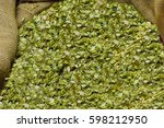 Dried Hops Collected In A Bag...
