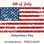 flag usa. 4th of july.... | Shutterstock . vector #598214630