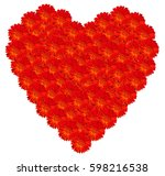 Marigold Red Heart Full. Red...