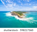 an aerial view of the byron bay ... | Shutterstock . vector #598217360