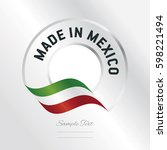 made in mexico transparent logo ... | Shutterstock .eps vector #598221494