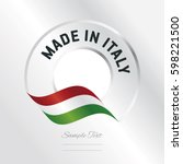 made in italy transparent logo... | Shutterstock .eps vector #598221500