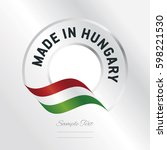 made in hungary transparent... | Shutterstock .eps vector #598221530