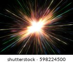 glowing lights  particle... | Shutterstock . vector #598224500