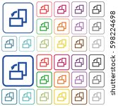 rotate left color flat icons in ... | Shutterstock .eps vector #598224698