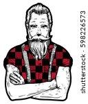 vector illustration of ink...   Shutterstock .eps vector #598226573