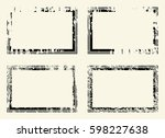 set of templates of rectangle...   Shutterstock .eps vector #598227638