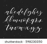 hand written brush pen alphabet.... | Shutterstock .eps vector #598230350